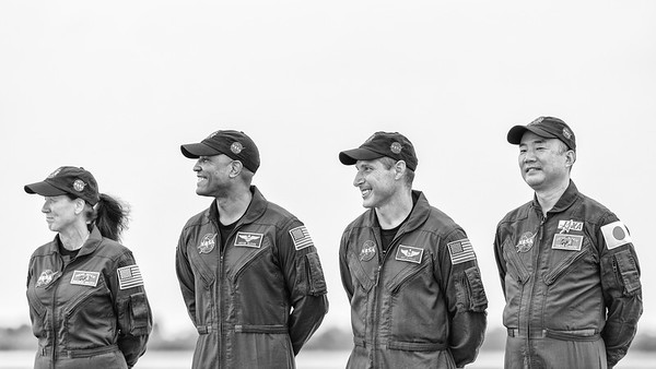 Crew-1 Crew Arrival at KSC