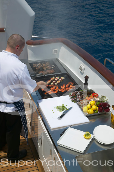 Chef at barbecue