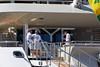 Crew with superyacht