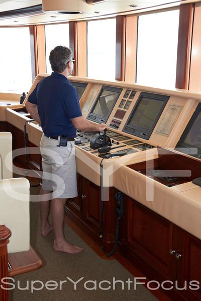 Captain on bridge