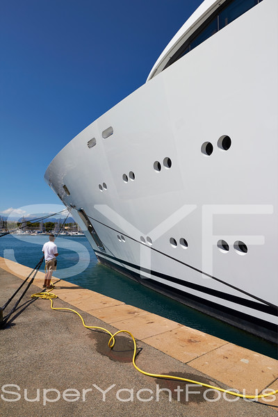 Crew with superyacht