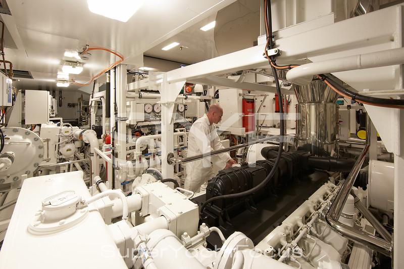 Engineer in engine-room