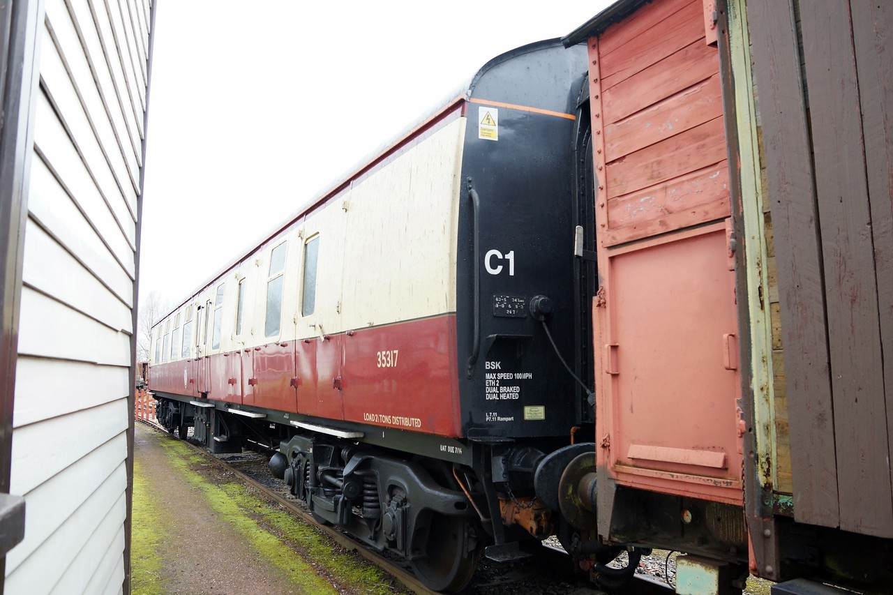 BR 35317 Mk 1 Brake Corridor Second 02,03,2014 (Support Coach For ST 60019)