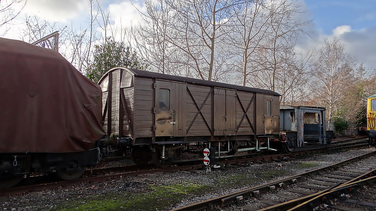 BR 92061 Vent Van Plank 'Fruit D PMVY' 06,01,2012. (Now At Peak Rail)