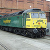 47150 is seen at Crewe Works OD on 11th September 2005