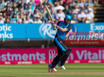 Worcestershire's Wayne Parnell batting. Worcestershire Rapids v Notts Outlaws in the Vitality Blast semi final, played at Edgbaston 21 September 2019. Photographed by Nigel Parker/format94