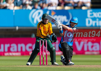 Worcestershire Rapids v Notts Outlaws in the Vitality Blast semi final, played at Edgbaston 21 September 2019. Photographed by Nigel Parker/format94