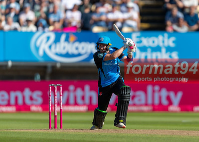 Worcestershire's Riki Wessels batting. Worcestershire Rapids v Notts Outlaws in the Vitality Blast semi final, played at Edgbaston 21 September 2019. Photographed by Nigel Parker/format94