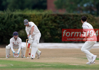 Tamworth CC v Lichfield CC playing in the South Staffordshire Premier League match 15 August 2020