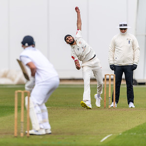 Derbyshire CCC  v Cardiff UCCE playing in a pre-season friendly match at the Incora Ground Derby. 3-5 April 2021,