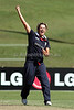 English bowler Nicola Shaw celebrates after claiming a icket during the ICC Womens World Cup match between England and the West Indies at Drummoyne Oval on Tuesday 17th March 2009 Photo: © ROB SHEELEY / SMP IMAGES