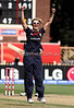 England captain Charlotte Edwards is jubilant after taking the wicket of Sophie Devine during the ICC Womens World Cup Final between England Vs New Zealand at North Sydney Oval on The 22nd March 2009 Photo: © ROB SHEELEY / SMP IMAGES