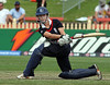 England's Beth Morgan attempts to sweep during the ICC Womens World Cup Final between England Vs New Zealand at North Sydney Oval won by England on The 22nd March 2009 Photo: © ROB SHEELEY / SMP IMAGES