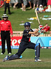 English opener Caroline Atkins plays a lofted drive over gully during the ICC Womens World Cup Final between England Vs New Zealand at North Sydney Oval won by England on The 22nd March 2009 Photo: © ROB SHEELEY / SMP IMAGES