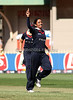 Isa Guha celbrates the early wicket of Kate Pulfors during the ICC Womens World Cup Final between England Vs New Zealand at North Sydney Oval on The 22nd March 2009 Photo: © ROB SHEELEY / SMP IMAGES