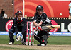 New Zealand's Lucy Doolan attempts a reverse sweep with the back of the bat on her way to 48 runs during the ICC Womens World Cup Final between England Vs New Zealand at North Sydney Oval won by England on The 22nd March 2009 Photo: © ROB SHEELEY / SMP IMAGES