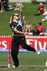New Zealand's Amy Mason in action with the ball during the ICC Womens World Cup Final between England Vs New Zealand at North Sydney Oval won by England on The 22nd March 2009 Photo: © ROB SHEELEY / SMP IMAGES
