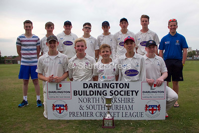 Saltburn Under 17s with the NYSD Junior Cup South