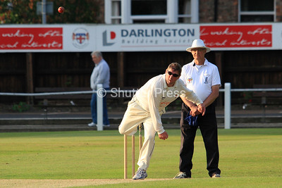 DARLINGTON, GBR. 11TH JUL. Darlington Building Society ,North Yorkshire & South Durham Premier Cricket  League, Arthur Sanders Cup Final between Richmondshire Cricket Club 3rd X and Hartlepool Cricket Club 3st XI at Darlington Cricket Club, Feethams, South Street,  Darlington on Friday 11th July 2014. Editiorial use only. All rights reserved. © Shutter Press NE Ltd 2014 (Photos; Harry Cook | Shutter Press)
