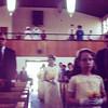Wedding procession Audrey lead