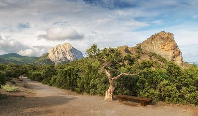 View on Mt.Sokol and Mt. Koba-Qaya