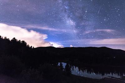 Milky Way with Perseid Meteor