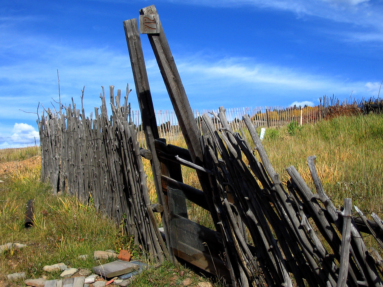 Old Fence Outside Victor