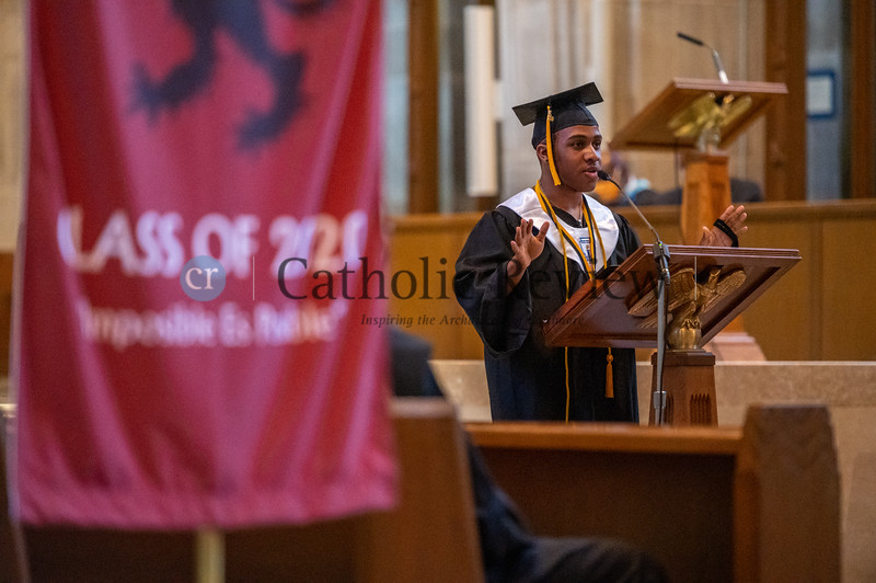 The Cristo Rey Jesuit High School, Baltimore, Class of 2020 celebrated graduation at the Cathedral of Mary Our Queen in Homeland July 19, 2020, some 128 days since they last gathered due to the coronavirus outbreak. (Kevin J. Parks/CR Staff)