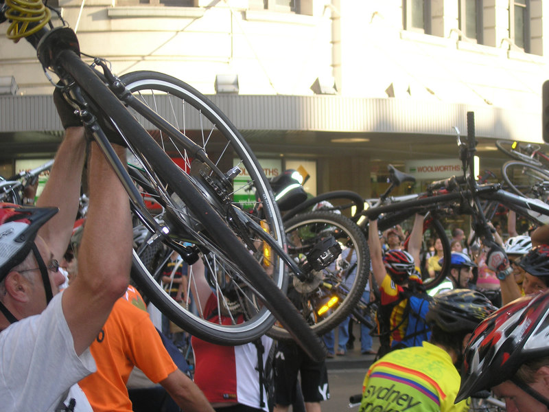 Bike lift at Town Hall