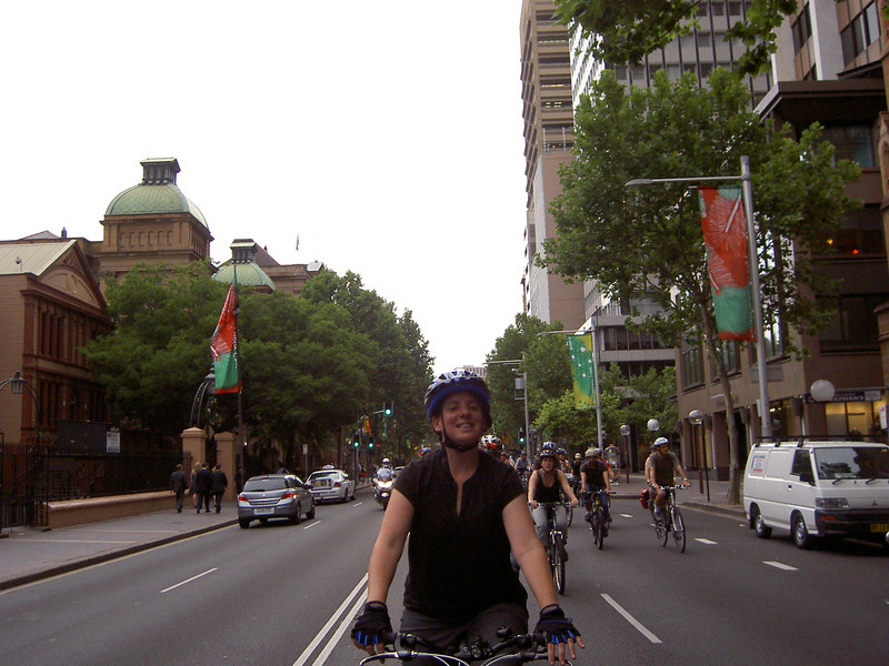 Random spunky girl on Macquarie Street