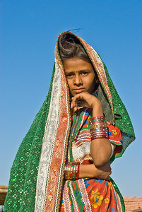 Girl, Rann of Kachchh, Gudjarat, India