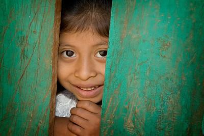 Mayan Girl at San Pablo La Laguna, Atitlan, Guatemala, February 2007.