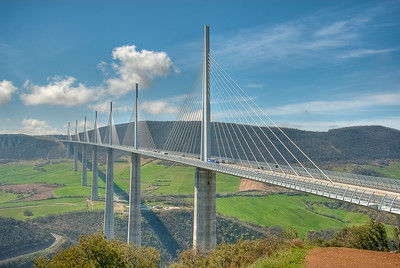 Millau Suspension Bridge, Tarn River Valley, France