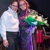 Crittenton Alumnae, Kimberly Gomez presents Alejandra Castillo with the 2019 Leadership Award.