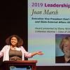 Crittenton Alumna, Ebony Ncholson, introduces Leadership Award Honoree, Joan Marsh