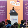 "Siobhan Davenport, keynote speaker and ED, Rocksprings Foundation, shared her story and encouraged girls to make their own destiny; turn what seems impossible into ""Possible""!"