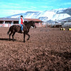 Marvin Roberts place in Natividad - January 1965 - Brandy with Ellen riding