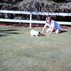 Carol and Missy still playing baseball - March 1964