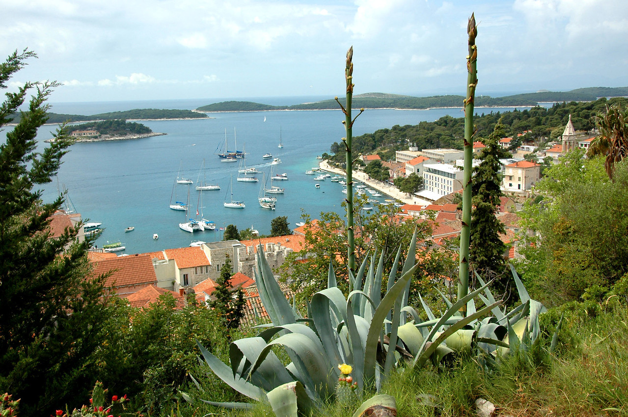 046-Hvar-harbor from fort trail-DSC_4067