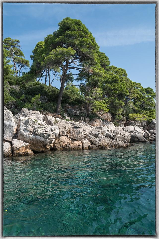 Green Adriatic Entering Lokrum Harbour