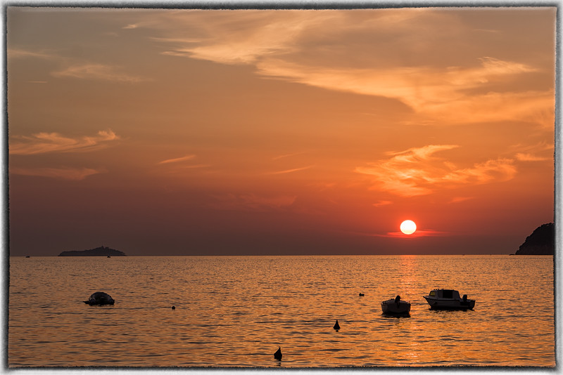 Sun Sets Over the Adriatic Sea