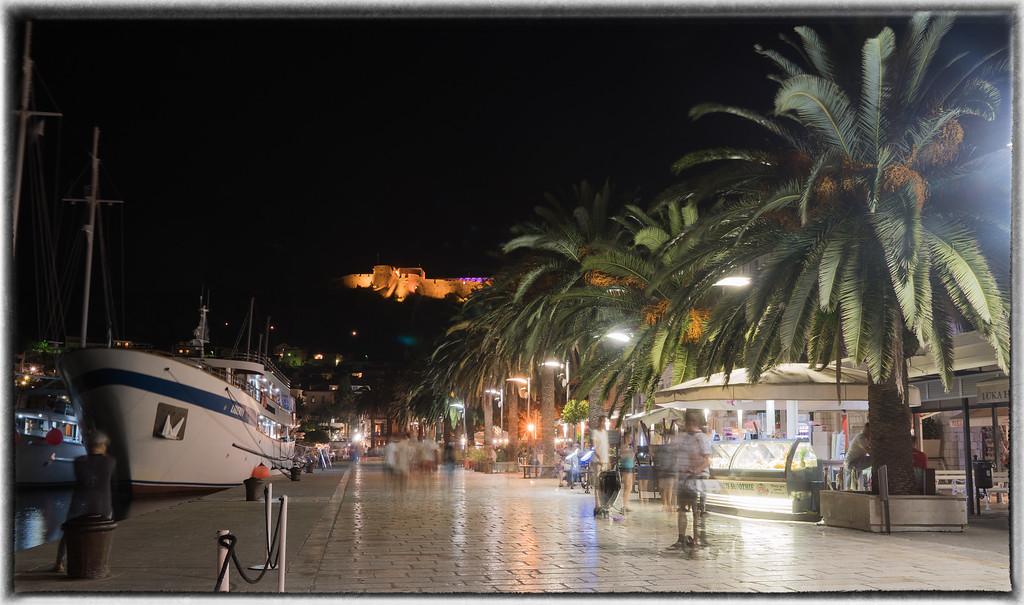 Hvar Harbour at Night