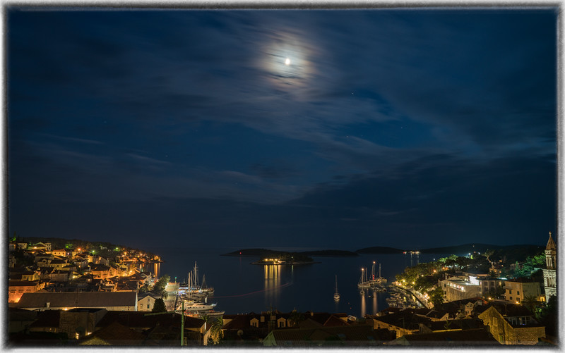 Hvar Harbor at Night