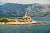 The lighthouse on Hvar Island, as seen from our car ferry.