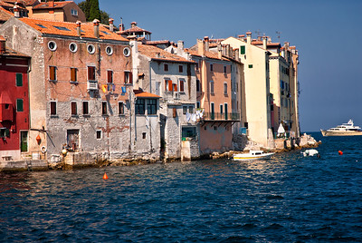 Richards___Old buildings in Rovinj being lapped at by the Adriatic