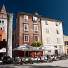 """Square in Zadar.  Trg means """"square."""""""