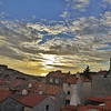 Dubrovnik, Croatia<br /> Toward sunset -- but not a fancy lens.  Maybe an optical illusion makes it all look rounded.
