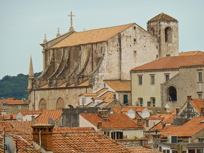 Cathedral in old city of Dubrovnik