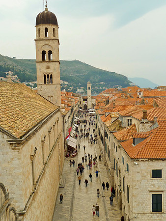 Main street in old city of Dubrovnik
