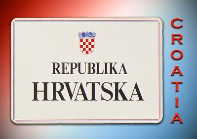 Highway sign at Republic of Croatia border